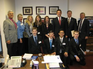 NTCL visits with Rep. Jeff Leach on May 7th.  Pictured: Dennis Scharp, Barbara Harless, Linda Townson, Mark Reid, Chuck Molyneaux, and some passionate and well-spoken students from north Texas. Keep up the good work Rep. Leach!