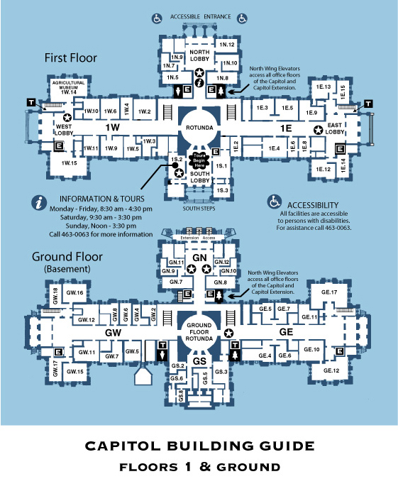 Cap Building North Texas Citizens Lobby - Map of us capitol grounds